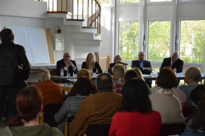 Das Podium v.l.: Andreas Liebheit, Sarah Krupp, Antje Kallus, Frank Bewig, Stephan Machulik