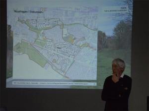 Präsentation aus den Themengruppen, hier Carl Herwarth vom Planungsbüro Herwarth + Holz