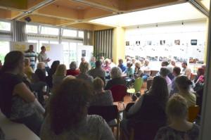 Gut besucht und rege Diskussionen, beim ersten Treffen von ADO-Mietern am 23. Mai im Stadtteilezentrum an der Obstallee