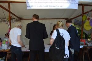 ... und Meinungen waren gefragt zum Stadtentwicklungskonzept für den Stadtumbau Heerstraße