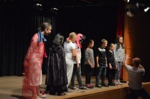 Zum Schluss alle kleinen Akteure einzeln vorgestellt vom Regisseur Oliver Schindler