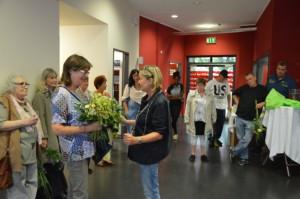 Vor der Party noch ein kleiner Empfang für den Ehrenamtskreis der lange Jahre von Barbara Luger als Koordinatorin begleitet wurde