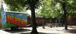 Start der Tour: Elterntreff & Elterncafé der Schule