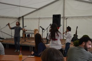 Beatbox mit Sebastian und Mohamed